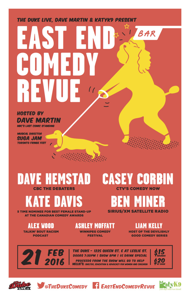 Stand-up comedy in Leslieville for charity